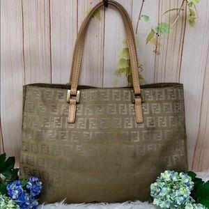 Authentic Fendi FF Monogram Satchel Bag